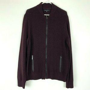 Kenneth Cole Mens Zip Jacket Size XXL Knit Sweater